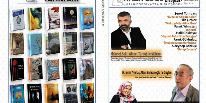 Halk Edebiyatı Dergisi'nin 25. Sayısı Çıktı