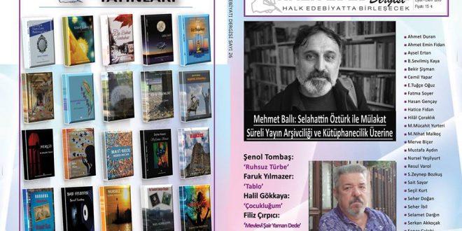 Halk Edebiyatı Dergisi'nin 26.Sayısı Çıktı