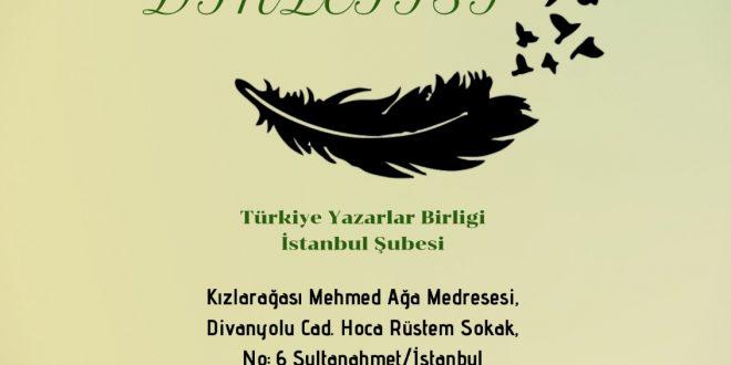 Halk Edebiyatı Dergisi Şiir Dinletisi Gerçekleşti!